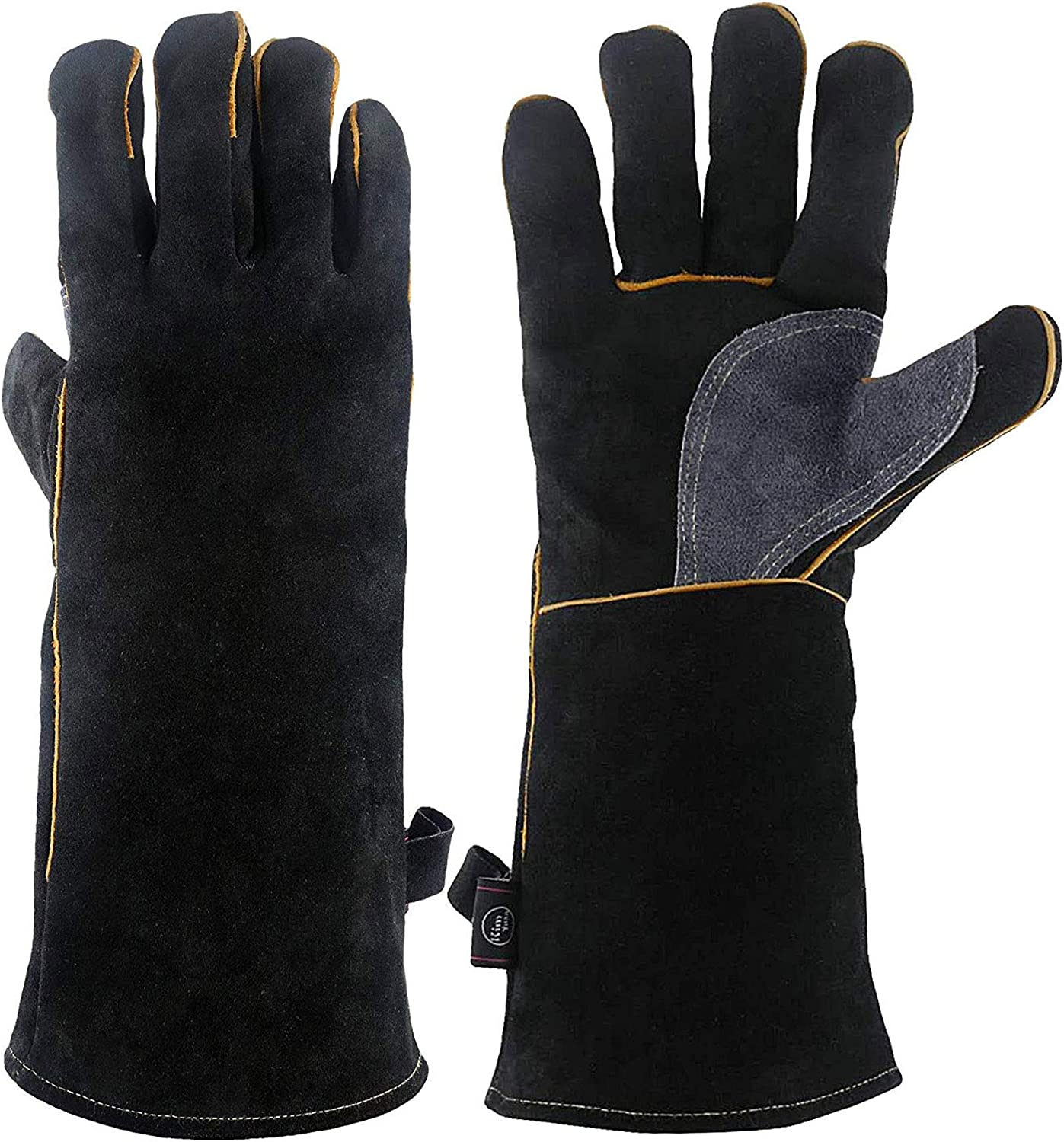KIM YUAN Extreme Now free shipping Ranking TOP9 Heat Fire Kevlar Resistant with Leather Gloves