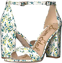 White Multi Lemon Drop Floral Patent