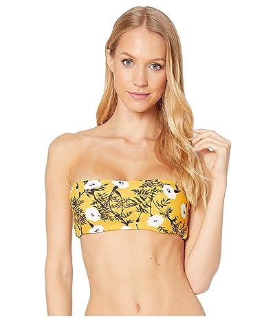Roxy Wavy Sould Underwire Bandeau Swim Top (Honey Gold Honey) Women