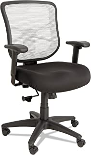 Alera, Black/White ALE Elusion Series Mesh Mid-Back Swivel/Tilt Chair