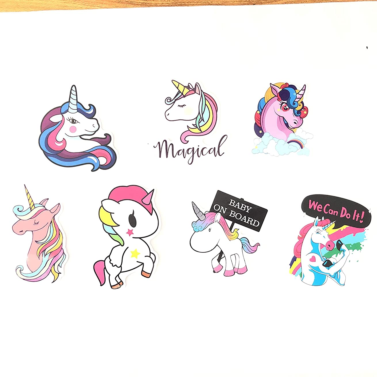 Unicorn Sticker Decal Gift, [14pcs] Cool Laptop Sticker for iPhone MacBook Car Motorcycle Luggage Water Bottle DIY Bumper Bomb Vinyl Decal Stickers for Guy Skateboarding Accessories