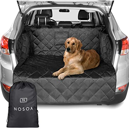 Nosoa Premium Kofferraumschutz Für Hunde Hundedecke Auto Kofferraum Mit Stoßstange Klappe Wasserdichter Rutschfester Gesteppter Decken Kofferraumschutzdecke Auto