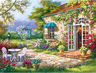 ANMUXI 5D Diamond Painting Kits Full Square Drills 30X40CM Flower House Landscape Scenery Paint with Diamonds Art for Stress-Relief & Home Decor