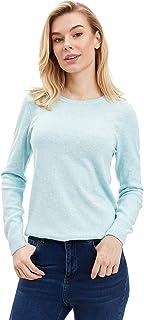 DeFacto Woman Regular Fit shirt met lange mouwen en ronde hals voor vrouwen tricot pullover dames pullover