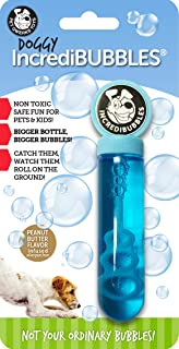 Pet Qwerks Large Size Doggy Incredibubbles Peanut Butter Flavor - Long Lasting Bubbles with Non-Toxic Formula for Dogs, Av...