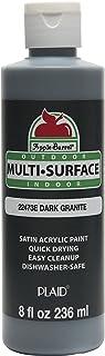 Apple Barrel Multi-Surface Paint in Assorted Colors (8 oz), Dark Granite