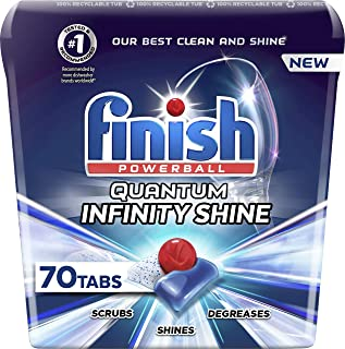 Finish Quantum Infinity Shine - 70 Count - Dishwasher Detergent - Powerball - Our Best Ever Clean and Shine - Dishwashing ...