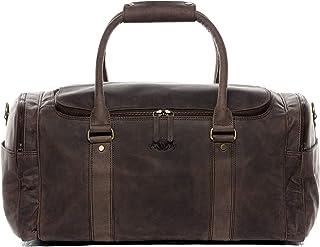 SID & VAIN Weekender | Vintage-Look | echt Leder Paul groß Sporttasche Reisetasche Ledertasche Herren braun