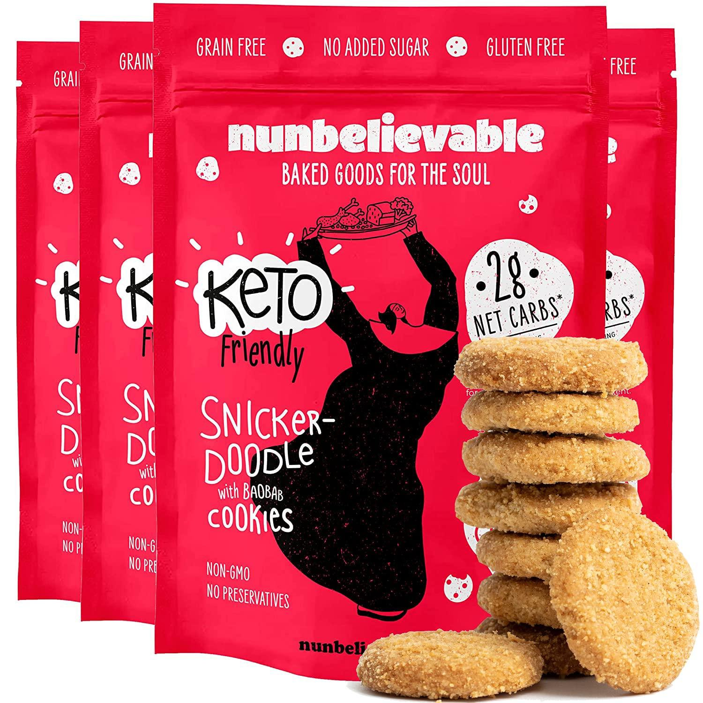 Nunbelievable Keto Japan's largest assortment Cookies Snickerdoodle Pack 4 Dedication of
