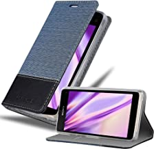 Cadorabo Funda Libro para Sony Xperia Z1 Compact en Azul Oscuro Negro – Cubierta Proteccíon con Cierre Magnético, Tarjetero y Función de Suporte – Etui Case Cover Carcasa