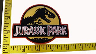 Jurassic Park (Yellow) Logo Embroidered Patch, NEW 4inch by 2.5inch