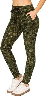 Always Women Cargo Joggers Pants - Super Skinny Fit Lightweight Premium Soft Stretch Drawstrings Pockets Pants