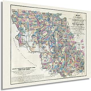 HISTORIX Vintage 1883 West Baton Rouge Louisiana Map - 18x24 Inch Old West Baton Rouge Map Wall Art - Map of Baton Rouge L...