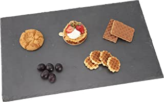 Creative Home 73471 Natural Slate Stone Rectangular Cheese Board Serving Platter, 12
