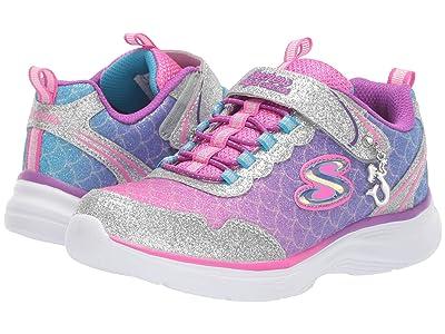 SKECHERS KIDS Glimmer Kicks 81444L (Little Kid/Big Kid) (Silver/Multi) Girls Shoes