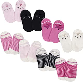 Baby Girls' 8-Pack Wiggle Proof No Show Socks