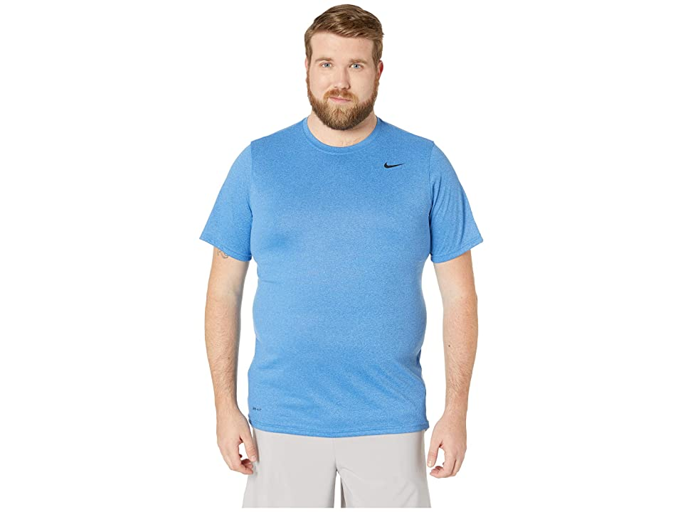 cd8680ee7b99a7 Nike Big Tall Legend 2.0 Short Sleeve Tee (Light Game Royal Heather Black)  Men s T Shirt