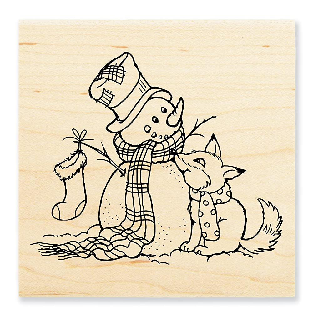 STAMPENDOUS Rubber Stamp, Fox Friend