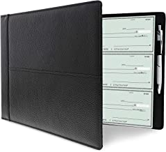 Juvale Business Check Binder 7 Ring for Checkbooks, Holds 600 Checks (14 x 2 x 10 in)