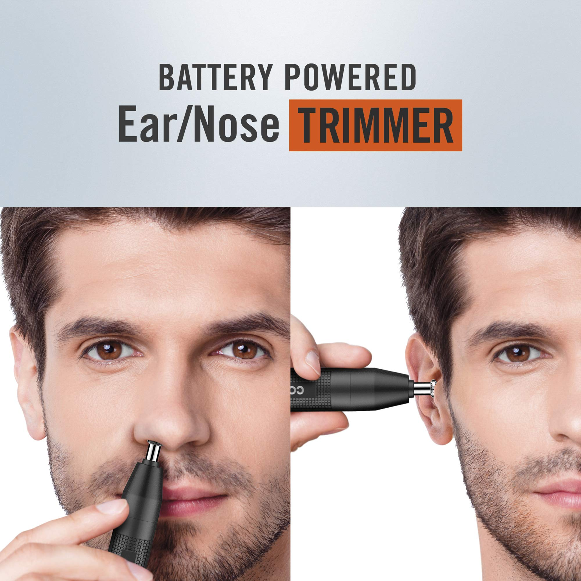ConairMAN BatteryPowered EarNose Trimmer, Black, 1 Count