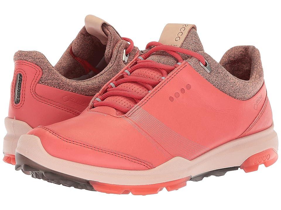 ECCO Golf Biom Hybrid 3 GTX (Spiced Coral/Spiced Coral) Women