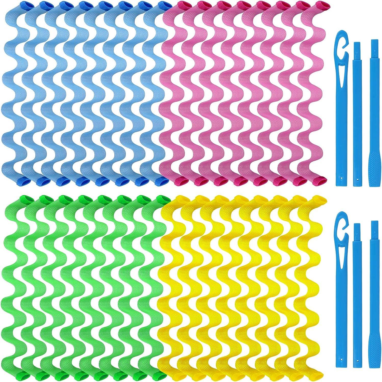 EEEKit 36 Pieces Hair Curlers Spiral Curls Styling Kit, No Heat
