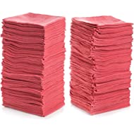 "Simpli-Magic 79141 Shop Towels 14""x12"", Pack of 150, Red"