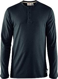 Fjallraven - Men's Greenland Re-Cotton Buttoned Longsleeve, Dark Navy, Small