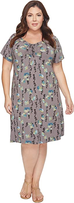 Extra Fresh by Fresh Produce Plus Size Floral Vines Emma Dress