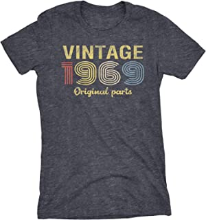 50th Birthday Gift Womens T-Shirt - Retro Birthday - Vintage 1969 Original Parts