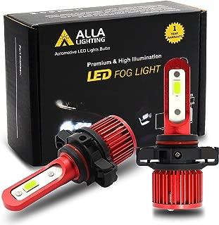 Alla Lighting 5200lm AL-R PSX24W 2504 LED Fog Lights Bulbs Xtremely Super Bright 2504 PSX24W LED Bulb High Power 12V 6000K Xenon White Fog Light Bulb Replacement