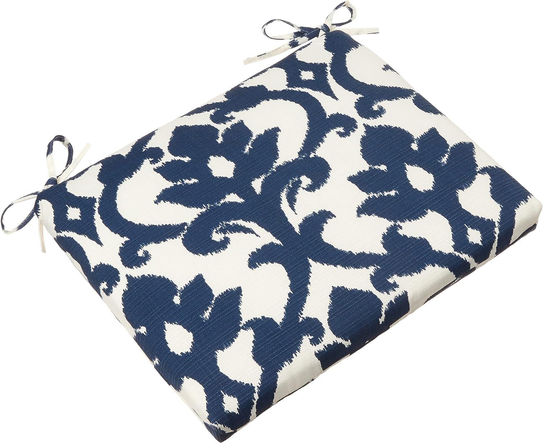 Pillow Perfect Outdoor Indoor Basalto Navy San Jose Mall Seat Corner Max 53% OFF Cu Square