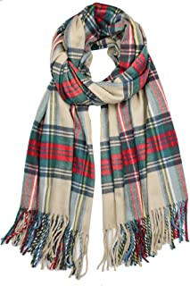 Oversized Cashmere Feel Scotland Scottish Tartan Plaid Scarf Shawl Wrap Winter Warm 80