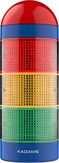 KADAMS Time Tracker Visual Timer with Audio Alarm and Pause Function, 24hr Countdown Clock, Volume Control, Stoplight Traffic Light, No Loud Ticking, Management Tool for Classroom Teachers Kids Adults
