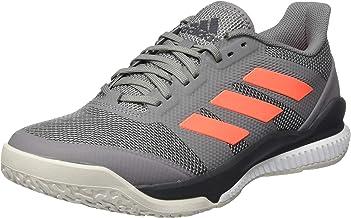 adidas Men's Stabil Bounce Handball Shoe, Grey Three F17/Signal Coral/Grey Six, 9.5 UK