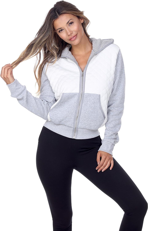 FashionPosh KNJK09 Hooded Quilted Fleece Jacket
