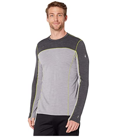 Smartwool Merino Sport 250 Long Sleeve Crew (Charcoal Heather) Men