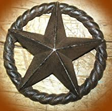 Large Antique Style Industrial Star Texas Lone Rustic Ranch 6 3/4