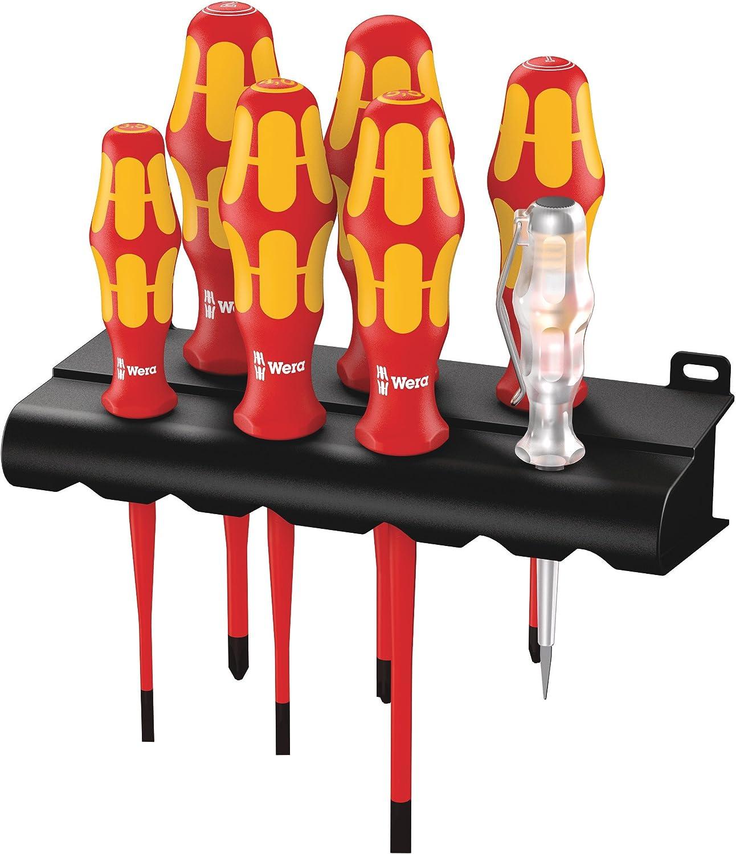 Wera 160 160 160 iS 7 Rack Schraubendrehersatz Kraftform Plus Serie 100  Spannungsprüfer  Rack. Mit rotuziertem Klingendurchmesser, 7-teilig, 05006480001 B0051YLUMC | Outlet Store Online  2b1153