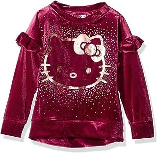 Girls' Velvet Sweatshirt with Foil Artwork