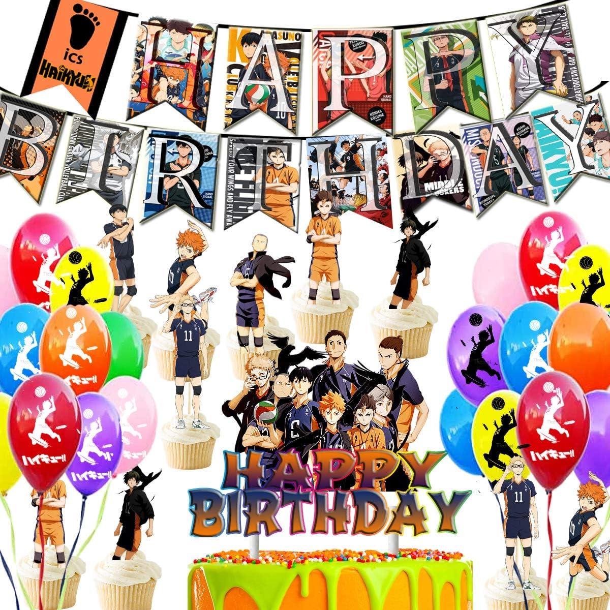 Haikyuu Haikyu Cake D\u00e9cor cake topper Haikyu Birthday Party Haikyu! Haikyu Inspired Custom Cake Topper Personalized Haikyu cake topper