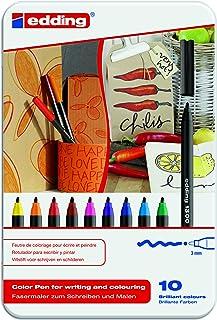 edding 1300 Color Fiber Pen Set, 10-Colors, assorted (ED1300-10)