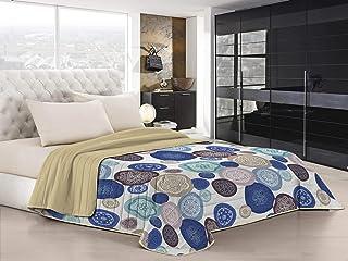 Italian Bed Linen QFAMURRINE2P Couette d'été «Fantasy», Microfibre, murrine, 2 Places