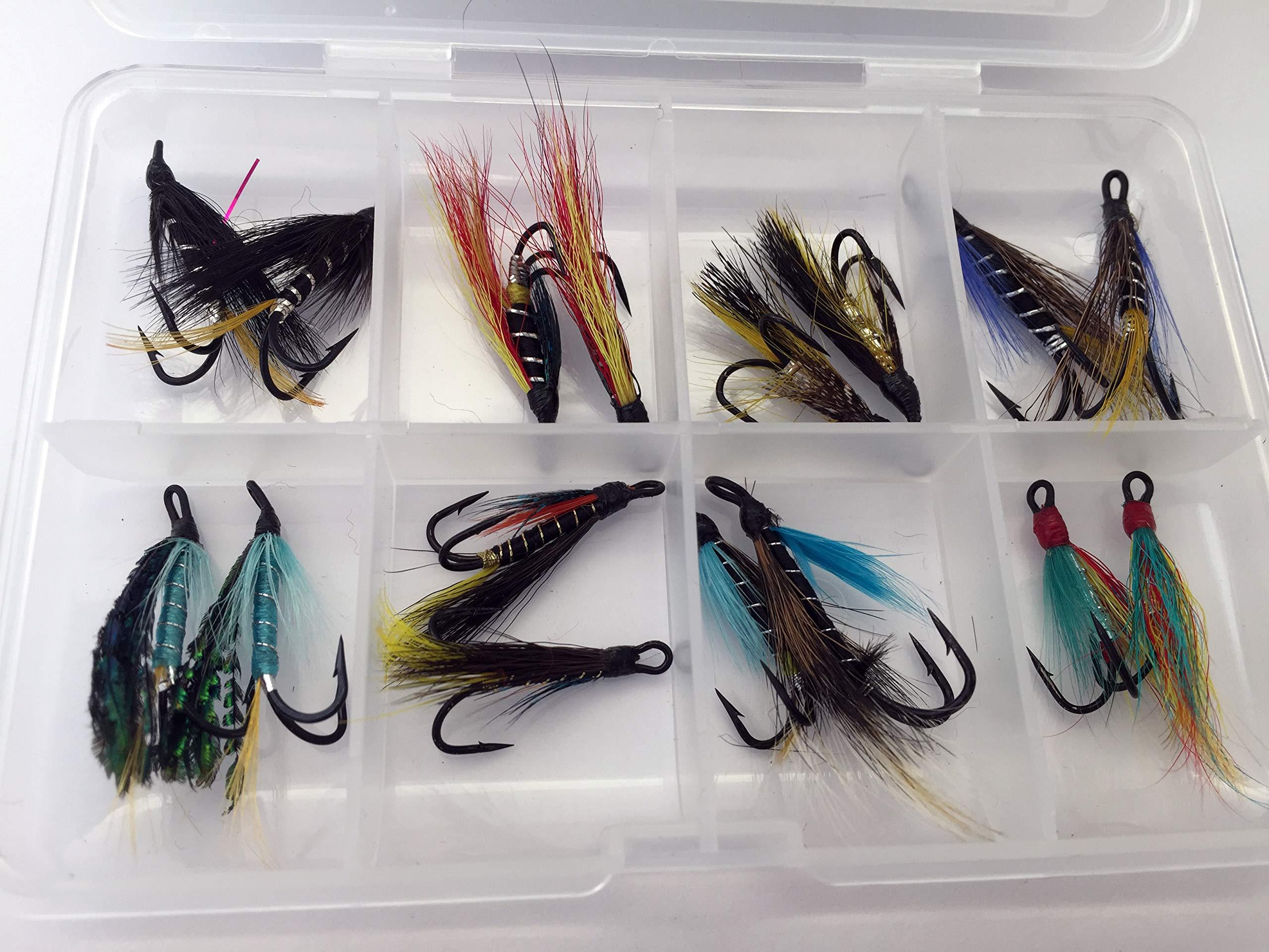 BestCity Doble Wet Flies para pequeñas y caña de Pescar para Trucha Marina Salmón Juego De Dieciséis Tamaño 8 para truchas de mar Pesca con Mosca Pack # 324: Amazon.es: Deportes y