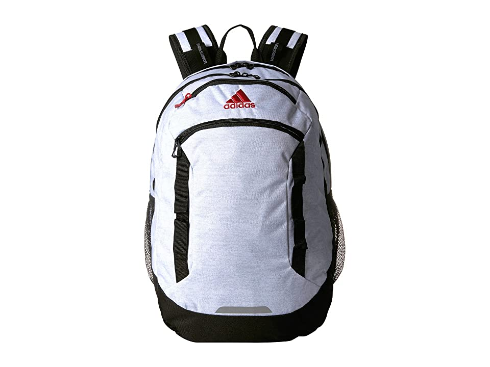 adidas Excel IV Backpack (White Jersey/Black/Scarlet) Backpack Bags
