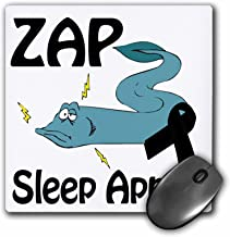 "3D Rose""Zap Sleep Apnea Awareness Ribbon Cause Design"" Matte Finish Mouse Pad - 8 x 8"" - mp_115344_1"