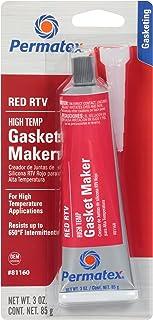 Permatex 81160-12PK High-Temp Red RTV Silicone Gasket, 3 oz., 3 oz