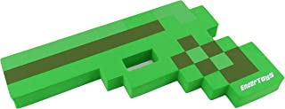 EnderToys Foam Gun Toy Weapon, Pixelated Creeper Green Pistol, 10 inch