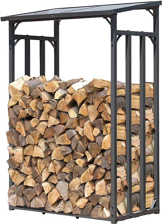 Legnaia quick star scaffalatura in metallo per legna da ardere 130 x 70 x 130 cm 1.6 m3 colore: antracite 47470
