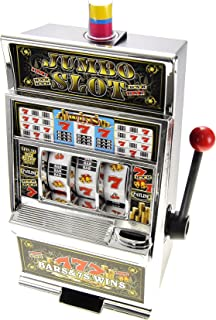 PowerTRC Lucky Sevens Jumbo Slot Machine Replica Piggy Bank Flashing Light and Sound | Casino Toy | Toys and Gifts